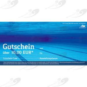 blue-aqua-sports Geschenkgutschein 10 EUR