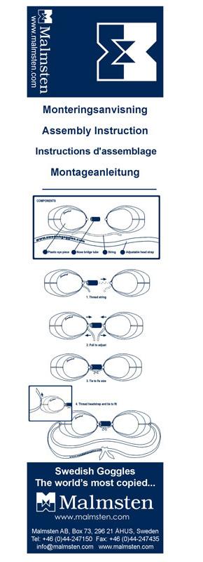 Montageanleitung für Malmsten Schwedenbrillen