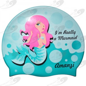 AMANZI® Mermaid Badekappe