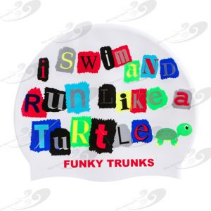 Funky Trunks® Swim Turtle Run Badekappe