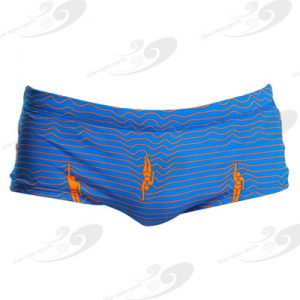 Funky Trunks® Ocean Swim Plain Front Trunk 1