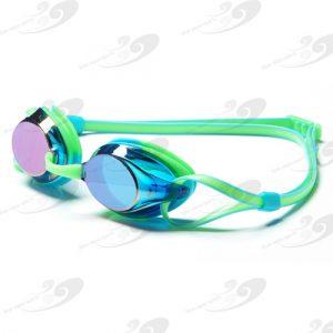 Amanzi® Axion Prismatic Green & Aqua Goggle Mirrored