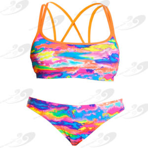 Funkita® Hot Wash Criss Cross Sportbikini 1