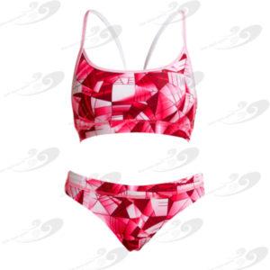 Funkita® Pink Pane Sportbikini 1