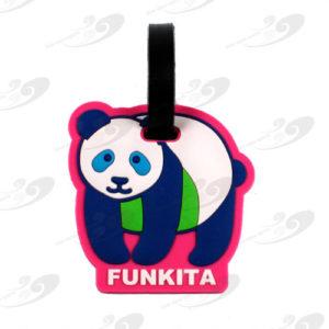 Funkkita® Gepäckanhänger Pink Panda