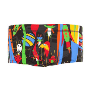 Funky Trunks® Black Stig Boys Printed Trunk
