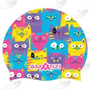 AMANZI® Cool Catz Badekappe