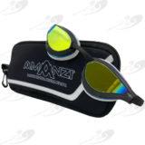 Amanzi® Dominate Prismatic Mirror Goggle Black/White 1