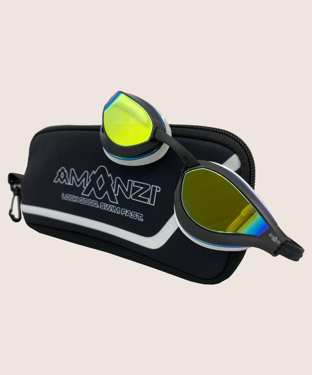 Amanzi® Dominate Prismatic Mirror Goggle Black/White 2