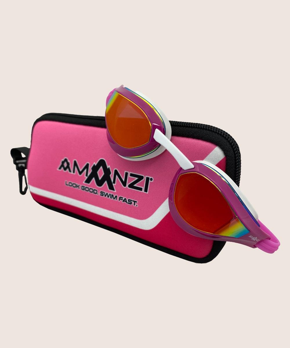Amanzi® Dominate Sunset Mirror Goggle Pink/White 2