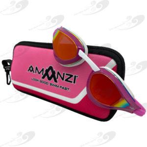 Amanzi® Dominate Sunset Mirror Goggle Pink/White 1