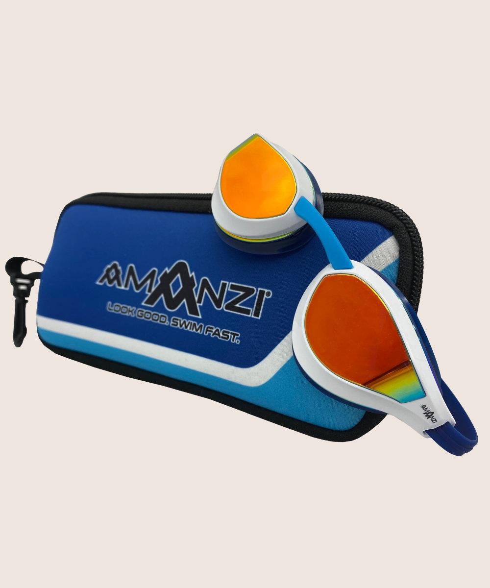 Amanzi® Dominate Sunset Mirror Goggle White/Indigo 2