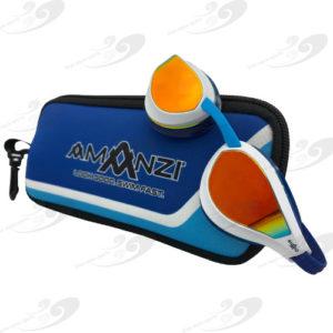 Amanzi® Dominate Sunset Mirror Goggle White/Indigo 1